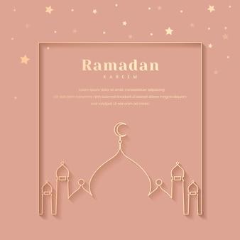 Ramadan ingelijst kaartontwerp