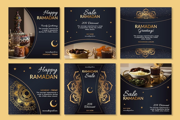 Ramadan instagram posts-collectie