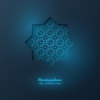 Ramadan kareem-achtergrond met decoratief patroon