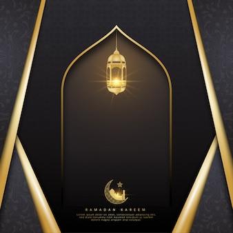 Ramadan kareem achtergrond met lampen