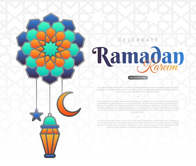 Ramadan kareem achtergrond met moslim ornament stock illustratie