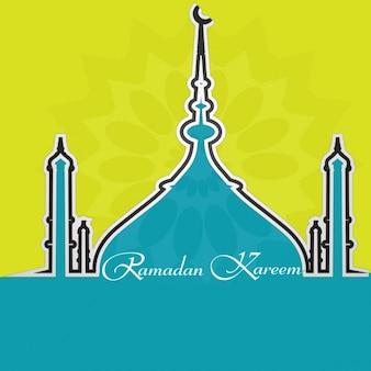 Ramadan kareem achtergrond ontwerp