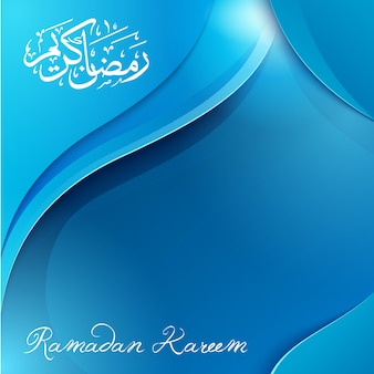 Ramadan kareem arabische kalligrafie groet achtergrond