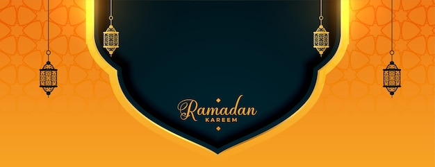Ramadan kareem-banner met lampendecoratie