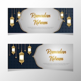 Ramadan kareem-bannerset