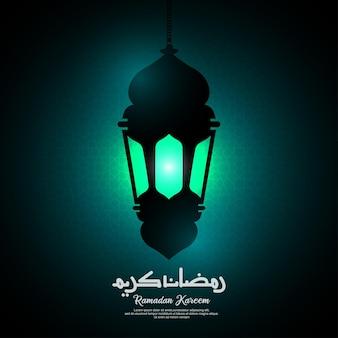 Ramadan kareem begroeting achtergrond met kalligrafie