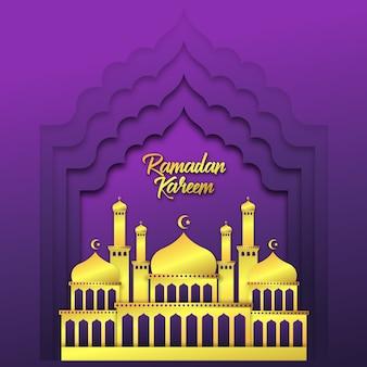 Ramadan kareem begroeting achtergrond