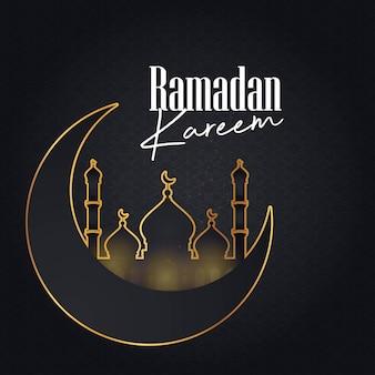 Ramadan kareem cresent moon patroon achtergrond
