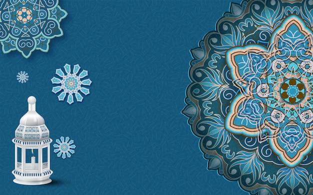 Ramadan kareem-de achtergrond van het groetornament