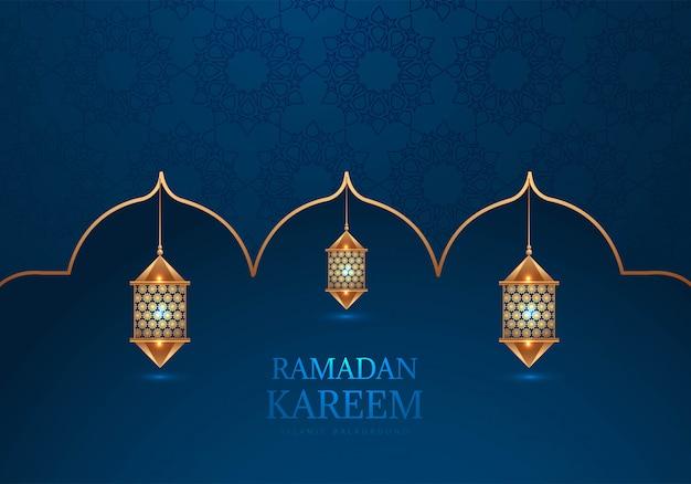 Ramadan kareem decoratieve arabische lampen achtergrond
