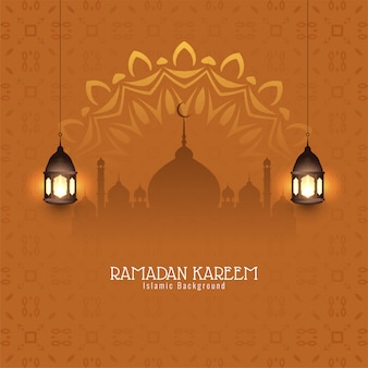 Ramadan kareem decoratieve islamitische achtergrond