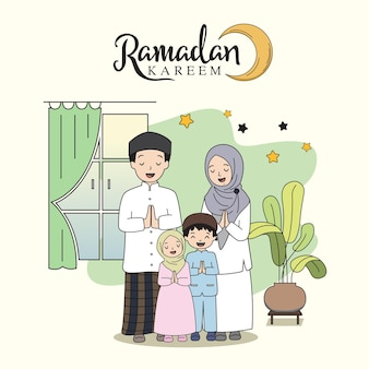 Ramadan kareem familiefeest plat