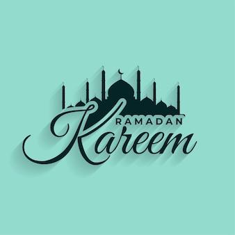 Ramadan kareem festival islamitisch ontwerp