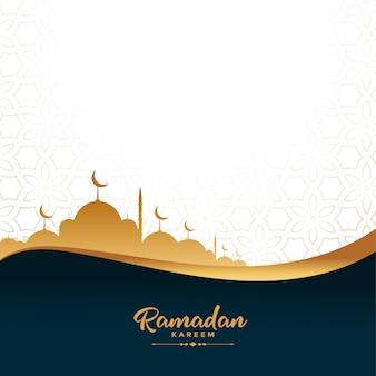 Ramadan kareem gouden moskee festival achtergrond