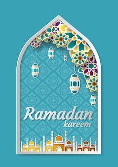 Ramadan kareem groet achtergrond