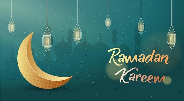 Ramadan kareem groet banner