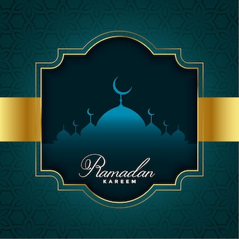 Ramadan kareem-illustratie in gouden stijl