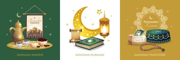 Ramadan kareem illustratie kaart