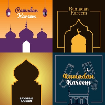 Ramadan kareem illustratie posterontwerp