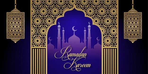 Ramadan kareem islamic social media banner background design