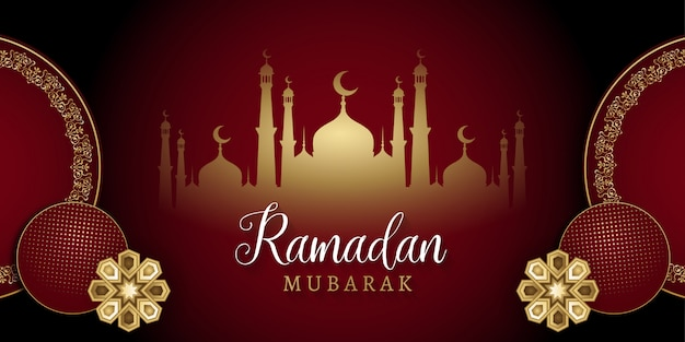 Ramadan kareem islamic social media banner background design