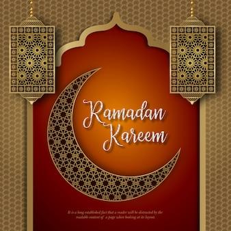 Ramadan kareem islamitisch ontwerp