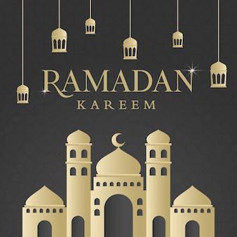 Ramadan kareem islamitische achtergrondontwerp