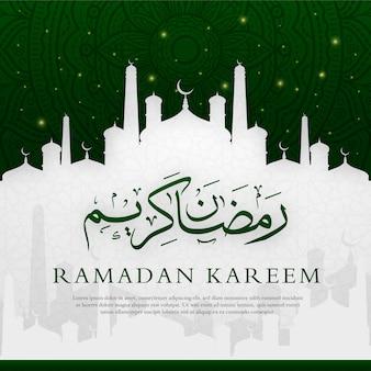 Ramadan kareem islamitische achtergrondontwerppremie