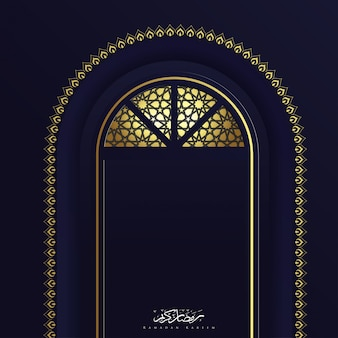 Ramadan kareem islamitische deur sieraad achtergrond