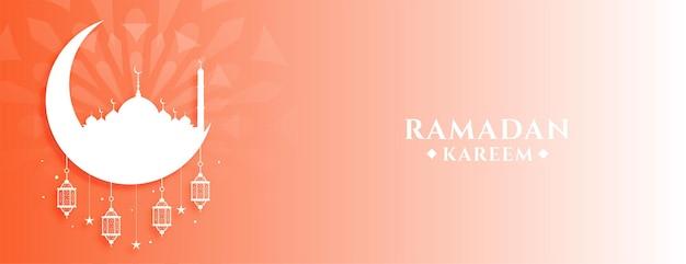 Ramadan kareem islamitische festival viering bannerontwerp