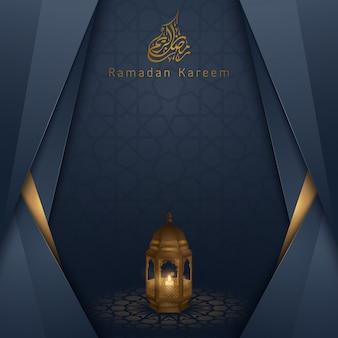 Ramadan kareem islamitische groet ontwerp