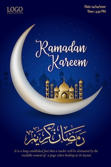 Ramadan kareem islamitische posterontwerp