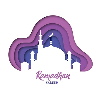 Ramadan kareem, islamitische silhouetten