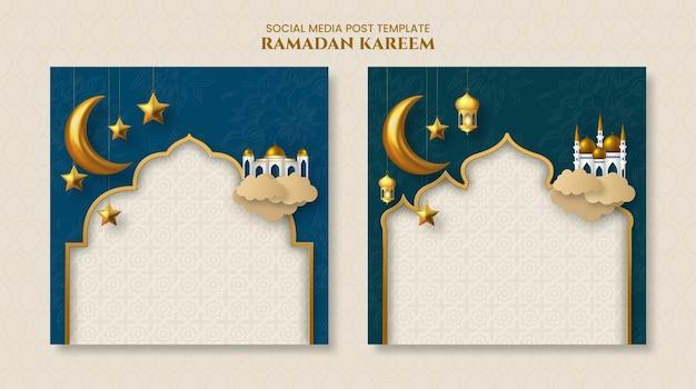 Ramadan kareem islamitische sjabloon voor spandoek
