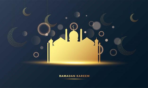 Ramadan kareem islamitische wenskaart achtergrond illustratie