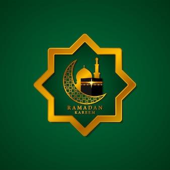 Ramadan kareem met islamitische versieringen