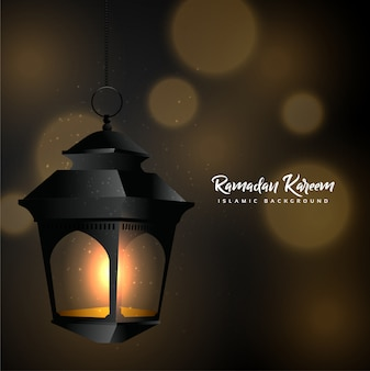 Ramadan kareem met lantaarn