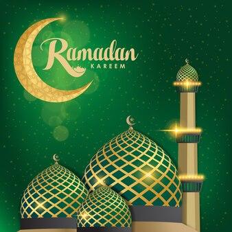 Ramadan kareem met moskee