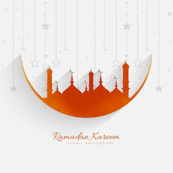 Ramadan kareem moderne achtergrond