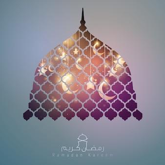 Ramadan kareem moskee koepel ontwerp achtergrond voor groet
