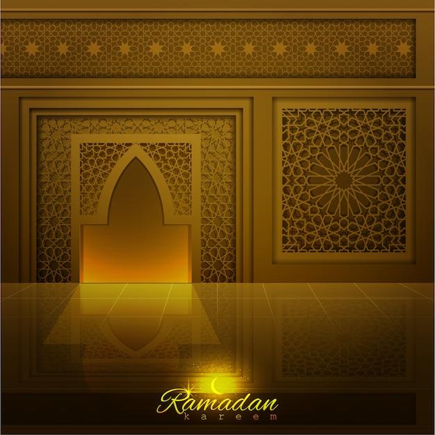 Ramadan kareem-moskeedeur en -raam