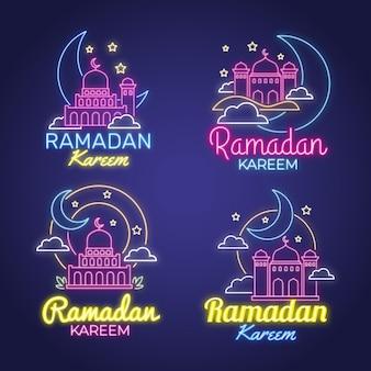 Ramadan kareem neonreclame collectie