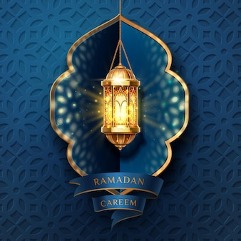 Ramadan kareem of eid mubarak, al-fitr wenskaart achtergrond.