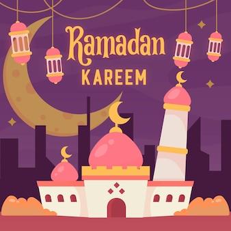 Ramadan kareem of eid mubarak-groet
