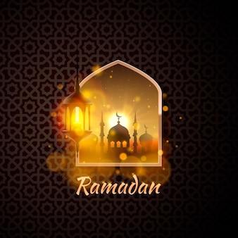 Ramadan kareem-omslag, ramadan mubarak-achtergrond