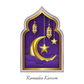 Ramadan kareem papierkunst