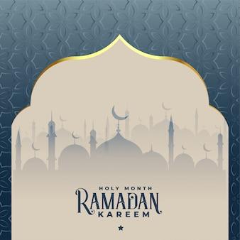 Ramadan kareem prachtige islamitische moskee achtergrond