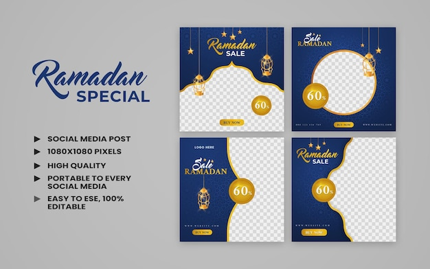 Ramadan kareem sale social media post