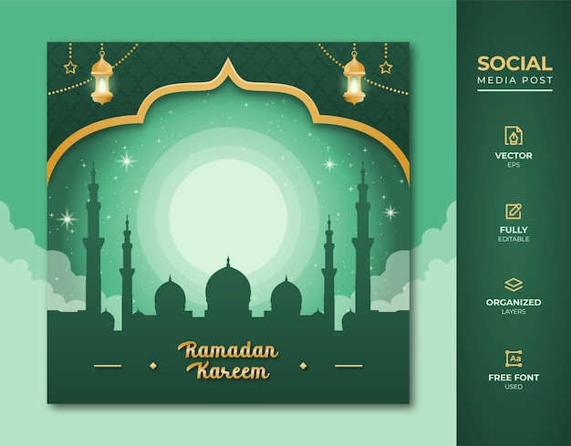 Ramadan kareem social media post.