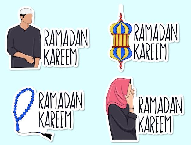 Ramadan kareem stickercollectie